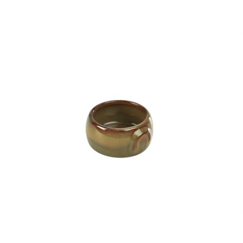 Terra Stoneware Rustic Brown Butter Pot 3oz/90ml
