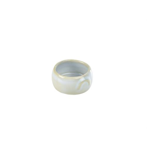 Terra Stoneware Rustic White Butter Pot 3oz/90ml