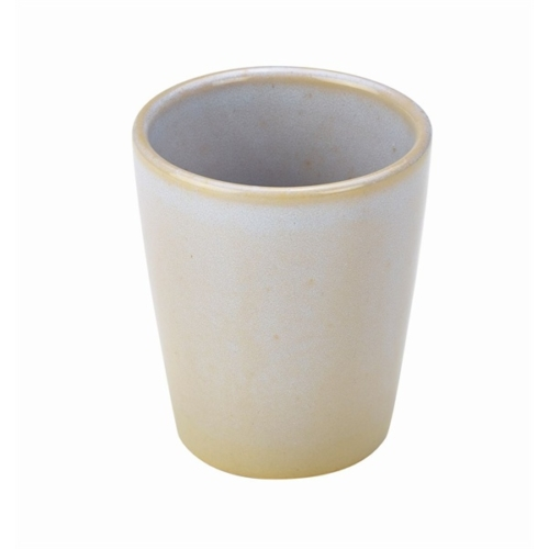 Terra Stoneware Rustic White Conical Cup 10cm8.5 (├ÿ) x 10 (H) cm – 32cl/11.25oz