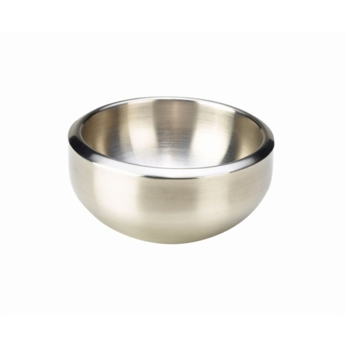 Stainless Steel Double Walled Dual Angle BowlSatin Finish 16 x 7.2cm – 72cl/25.3oz
