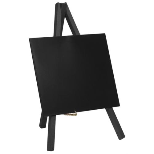 Mini Chalkboard Easel 24 X 11.5cm Black Pk 33 mini chalkboard easels when you buy 1. Board Size is 15 (W) x 13 (H)cm
