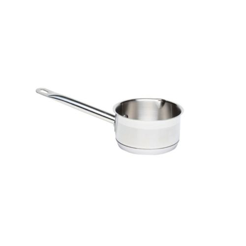 GWmilkpan W/Pouring Lips 1L 14cm Dia 8cm High18/4 s/steel