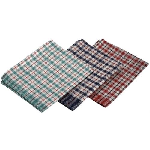 Mini Check T-Towel 43X68cm 10Pcs Mix Colours70% Cotton 30% Polyester