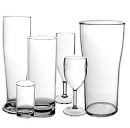 Polycarbonate Glassware Various
